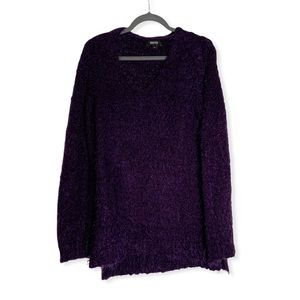 Reaction by Kenneth Cole Purple Eyelash Sweater